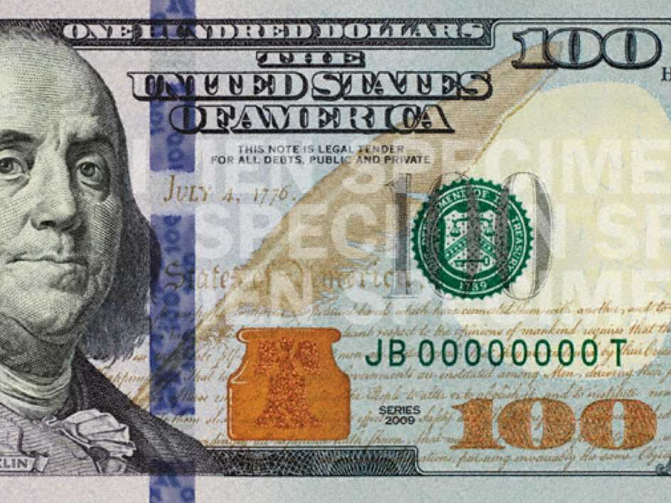 100 dollar bill currency