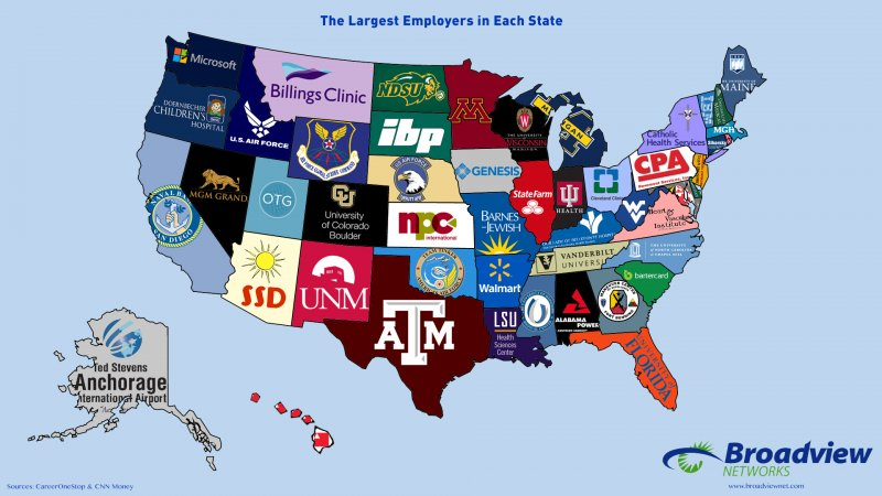 Bvn Largest Employers Map