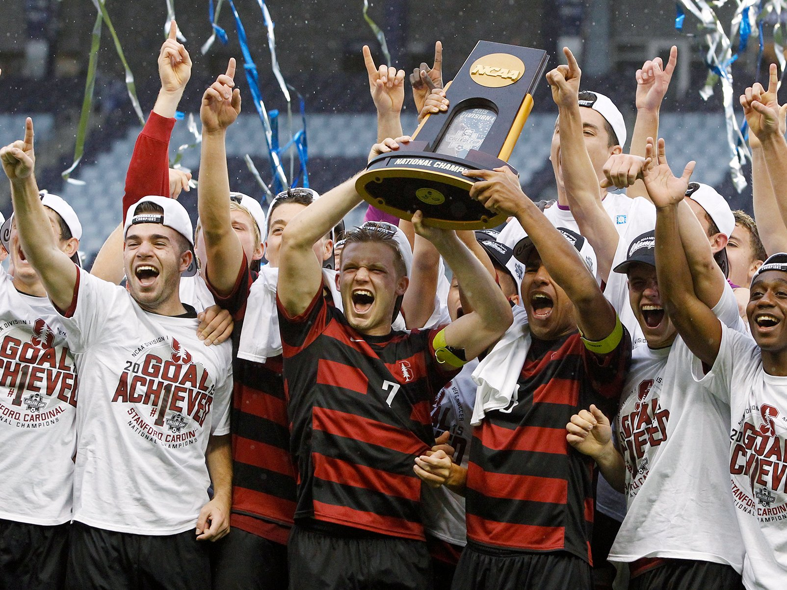 Stanford is the reigning men's soccer champions.