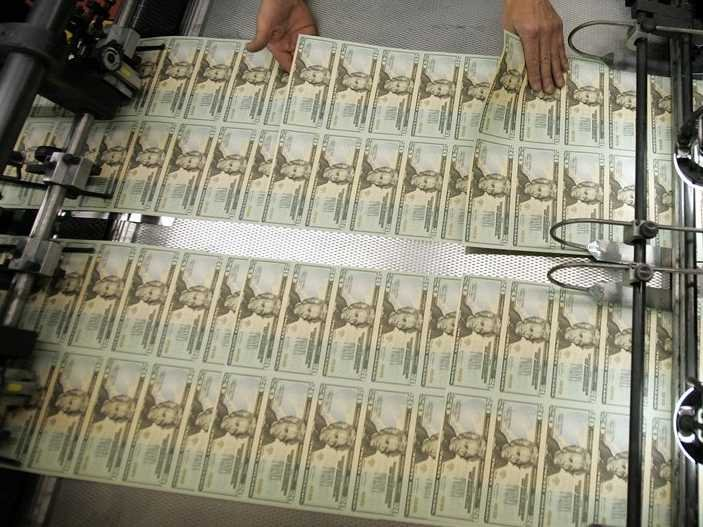 Printing Money Printing Press Money Quantitative Easing