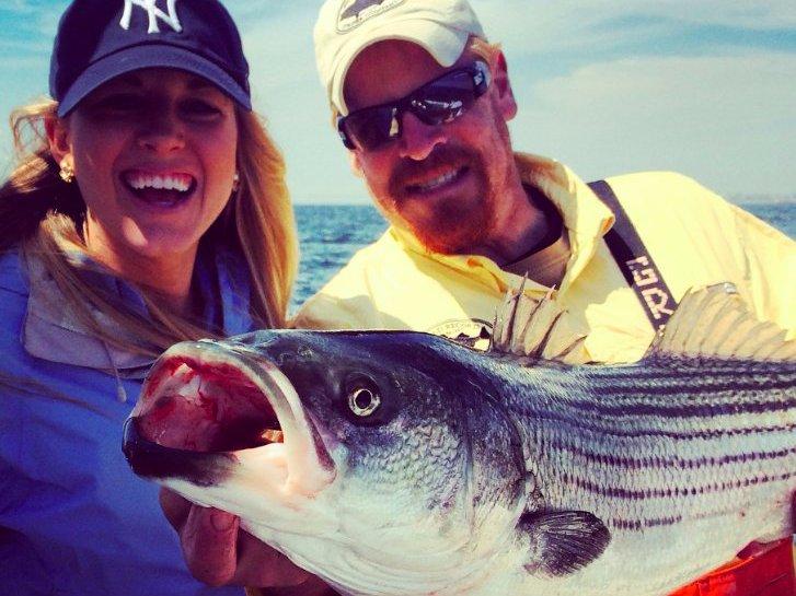 Greg Myerson, Julia La Roche, fishing, strip bass
