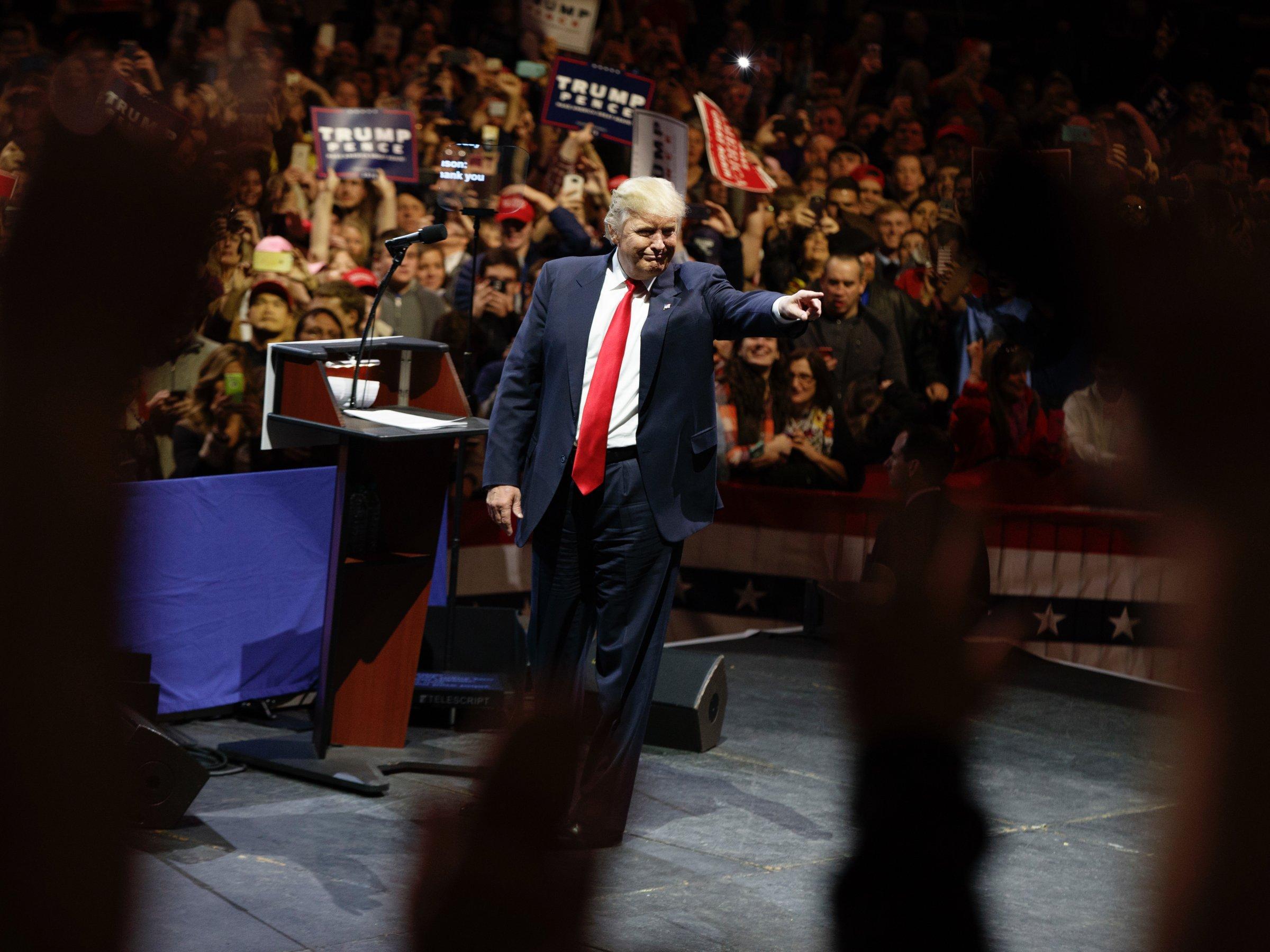 Trump victory tour Cincinnati