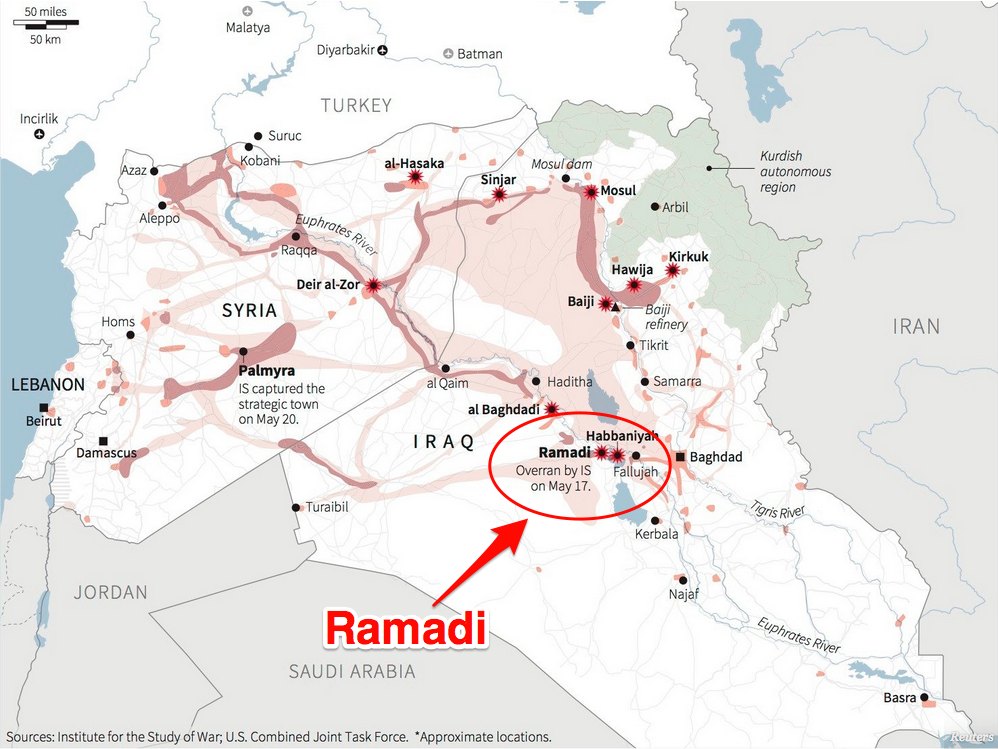 Iraqi Forces Have Totally Encircled Isis Held Ramadi