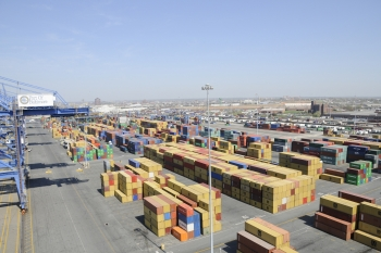 Photo of manufacturing materials at Port of Baltimore)
