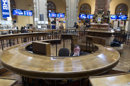 A broker sits in the stock exchange in Madrid Tuesday April 10, 2012. Worries about Spain&#039;s finances intensified Tuesday, when the country&#039;s bond yields on international markets rose despite expectations of a new round of austerity measures. The Spanish government is under intense pressure to show it can rekindle economic growth and cut its budget deficit to avoid becoming the next eurozone country to need a bailout, while the joblessness rate is 23 percent and the economy is shrinking(AP Photo/Paul White)