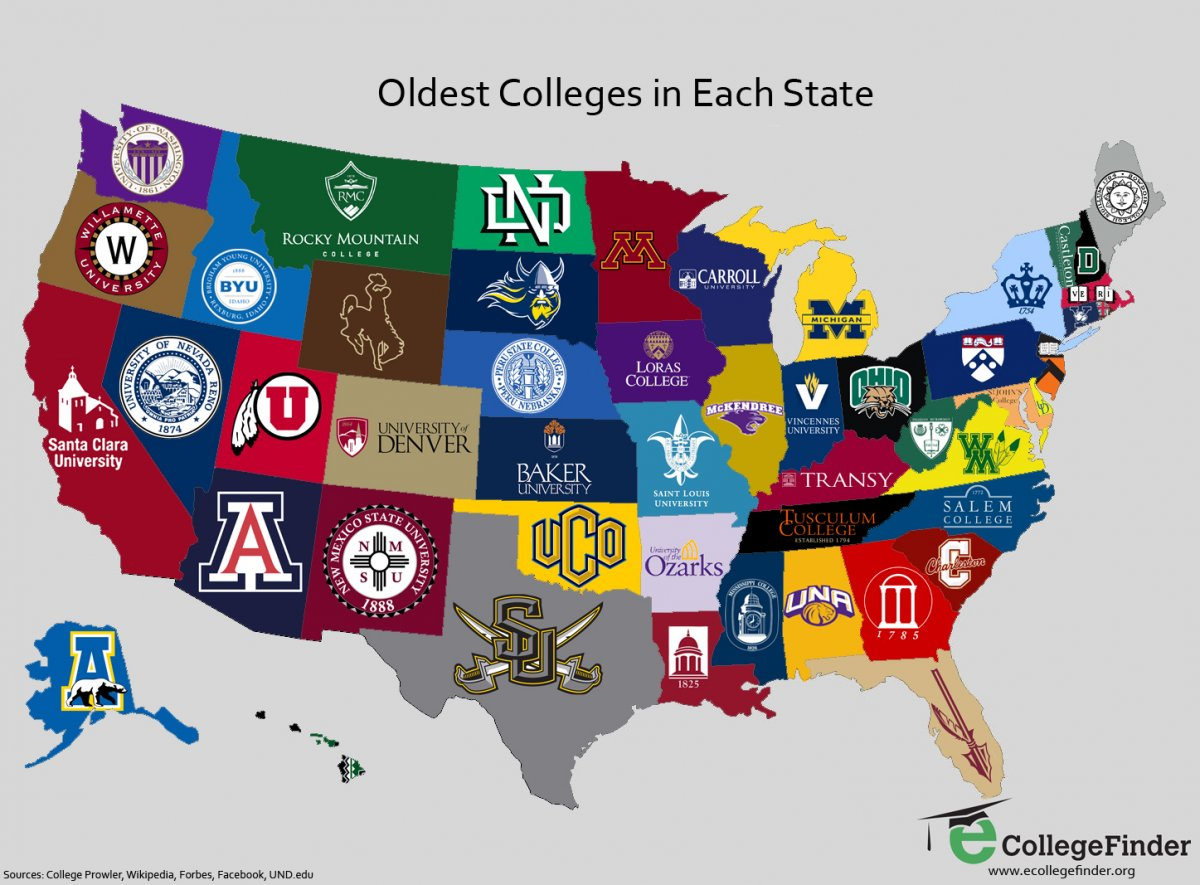 Map Where To Find The 2018 US News Best Colleges Best Best