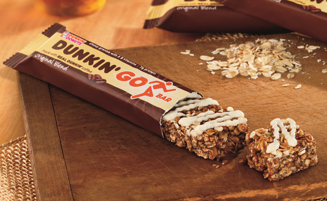 Dunkin' Donuts decided consumers weren't getting enough coffee in their coffee, so they're now offering coffee-flavored granola bars.