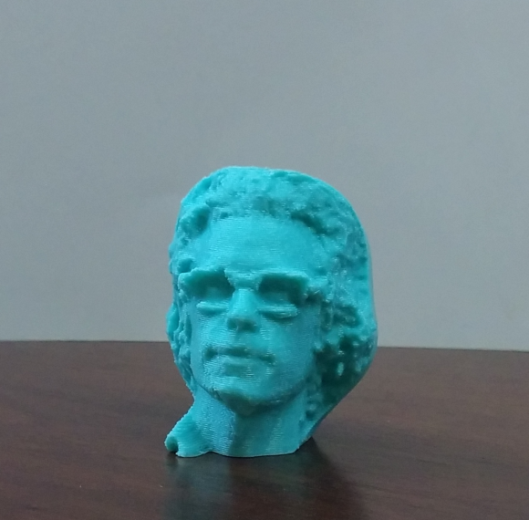3-D Printed Chris Campbell Face