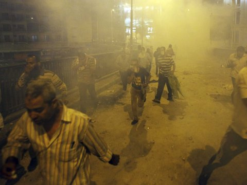 Cairo, Egypt protests clashes tear gas