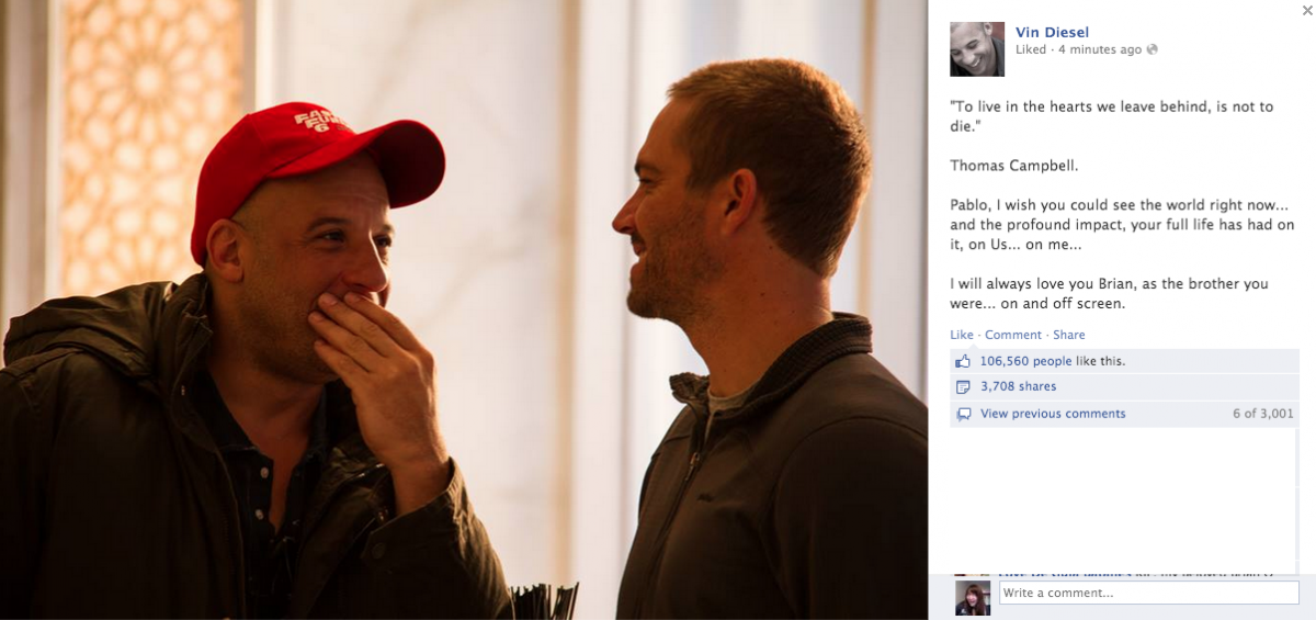 Fast And Furious Brian Oconnor Quotes Quotesgram: Vin Diesel Breaks Silence On Paul Walker's Death In