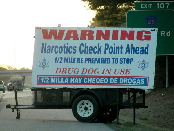 Narcotics-checkpoint