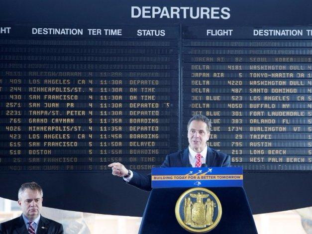 Andrew Cuomo JFK airport