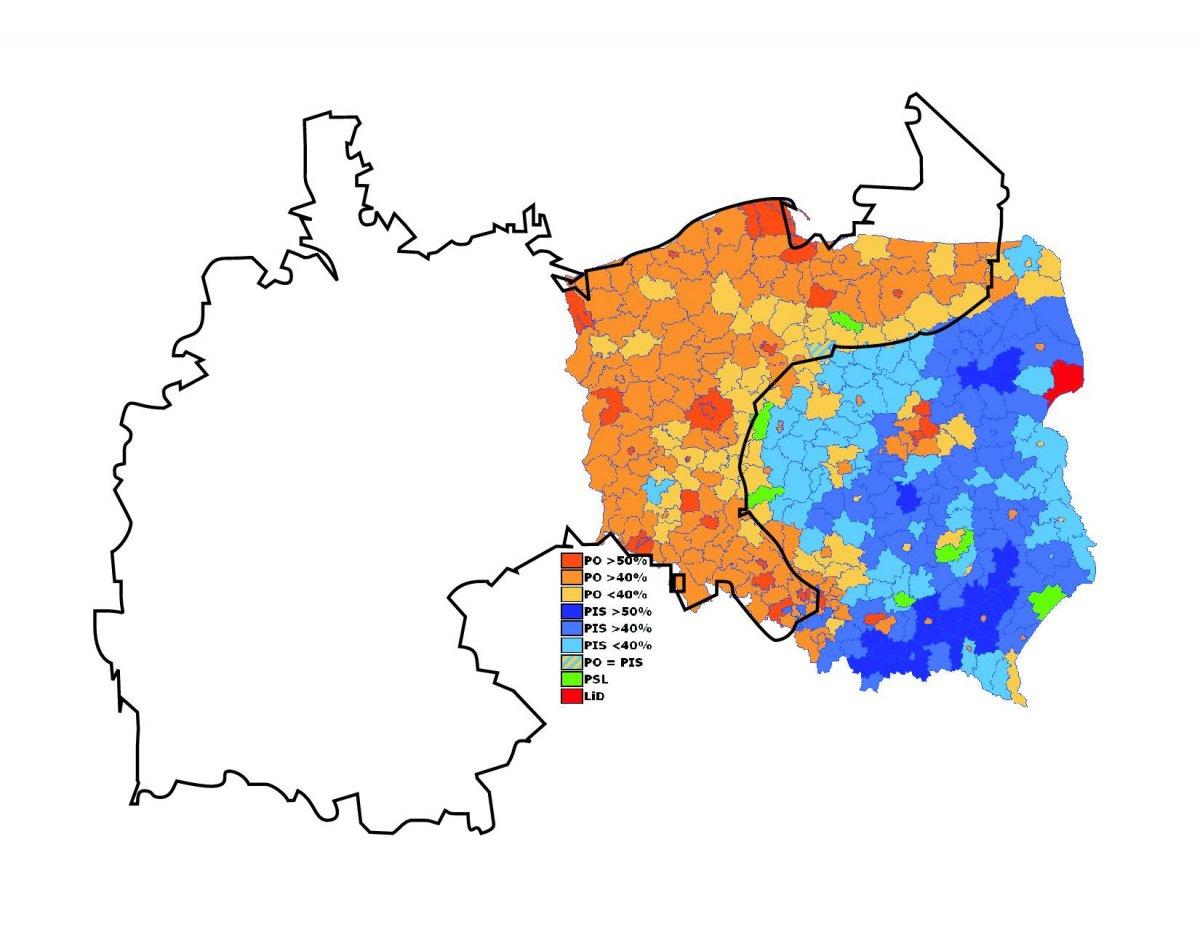 in the 2004 election the pro western orange revolution candidate viktor yushchenko lost to the pro russian viktor yanukovich according to the strange maps