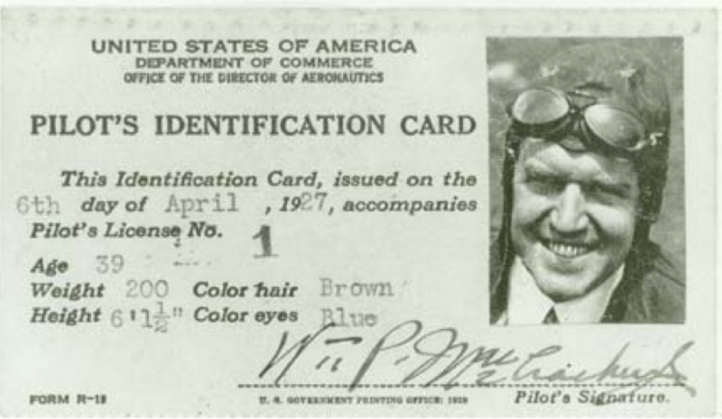 Here's The First Pilot License Ever Issued In The US | www ...