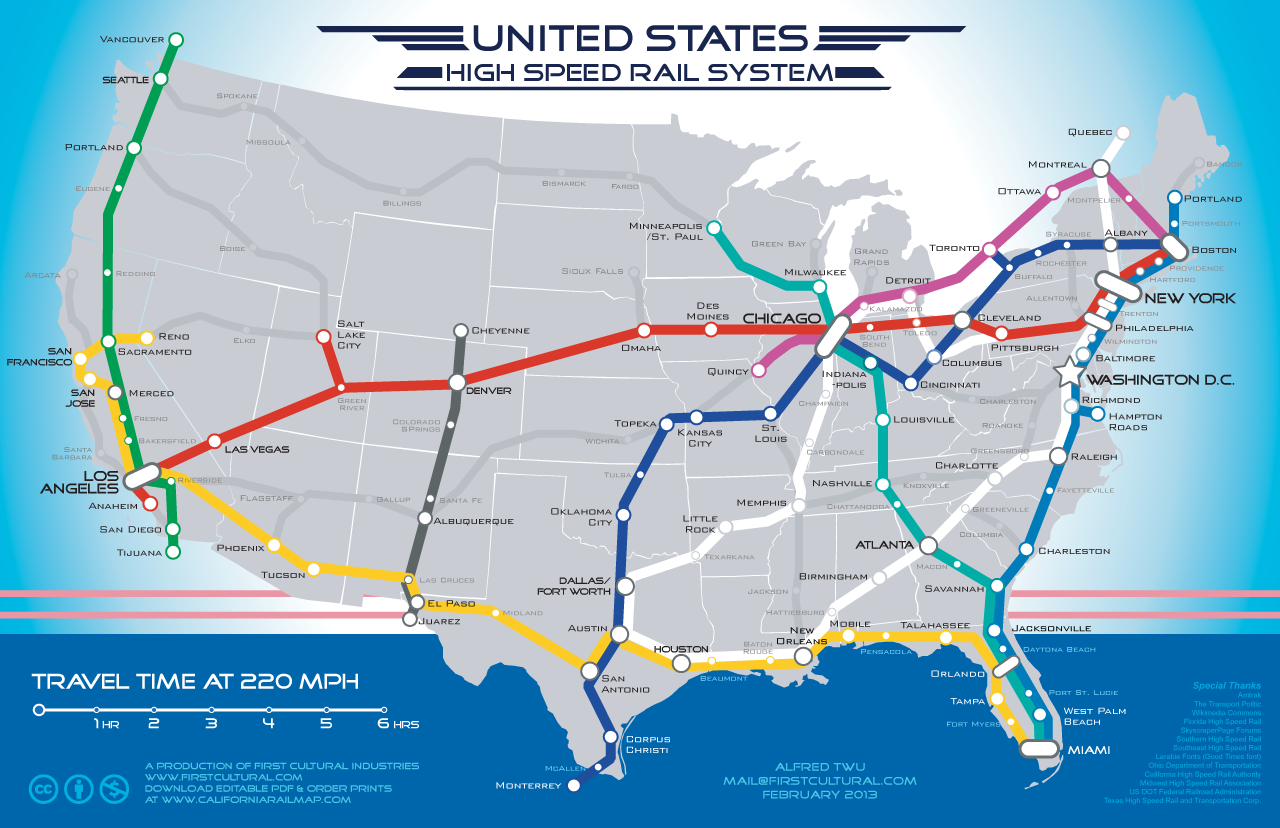 us rail system possible map