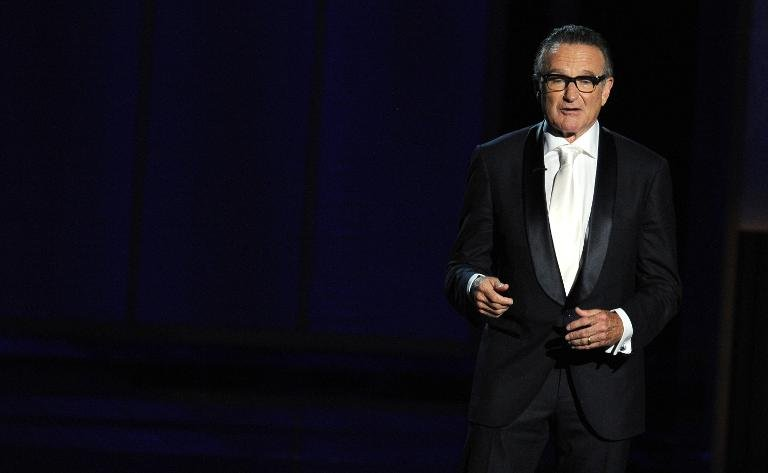 Late actor Robin Williams at the Annual Primetime Emmy Awards in Los Angeles on September 22, 2013