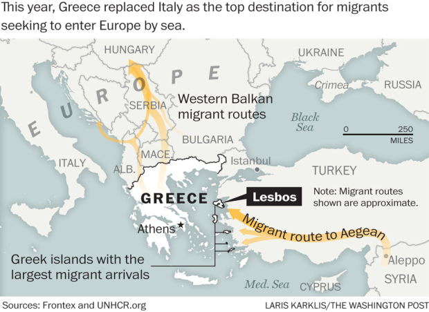 From a failed state to a failing one On Greek island paradise