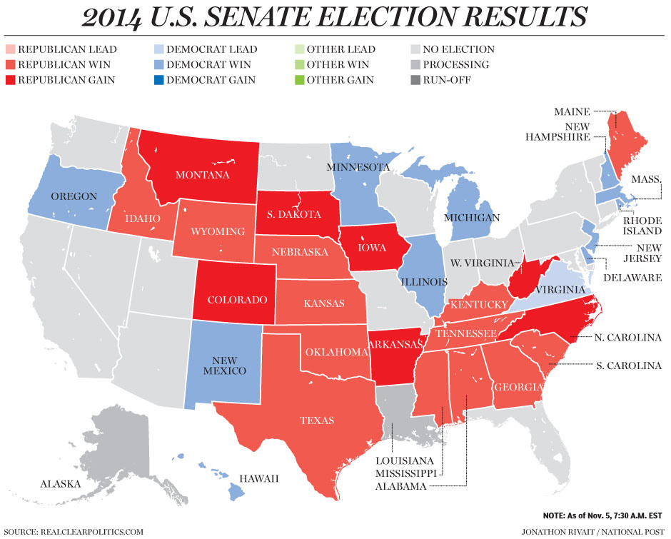 us midterm election results 2014