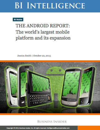 Android Report Cover