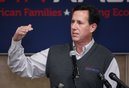 Republican presidential candidate, former Pennsylvania Sen. Rick Santorum speaks during a rally, Monday, Feb. 20, 2012, in Muskegon, Mich. (AP Photo/Al Goldis)