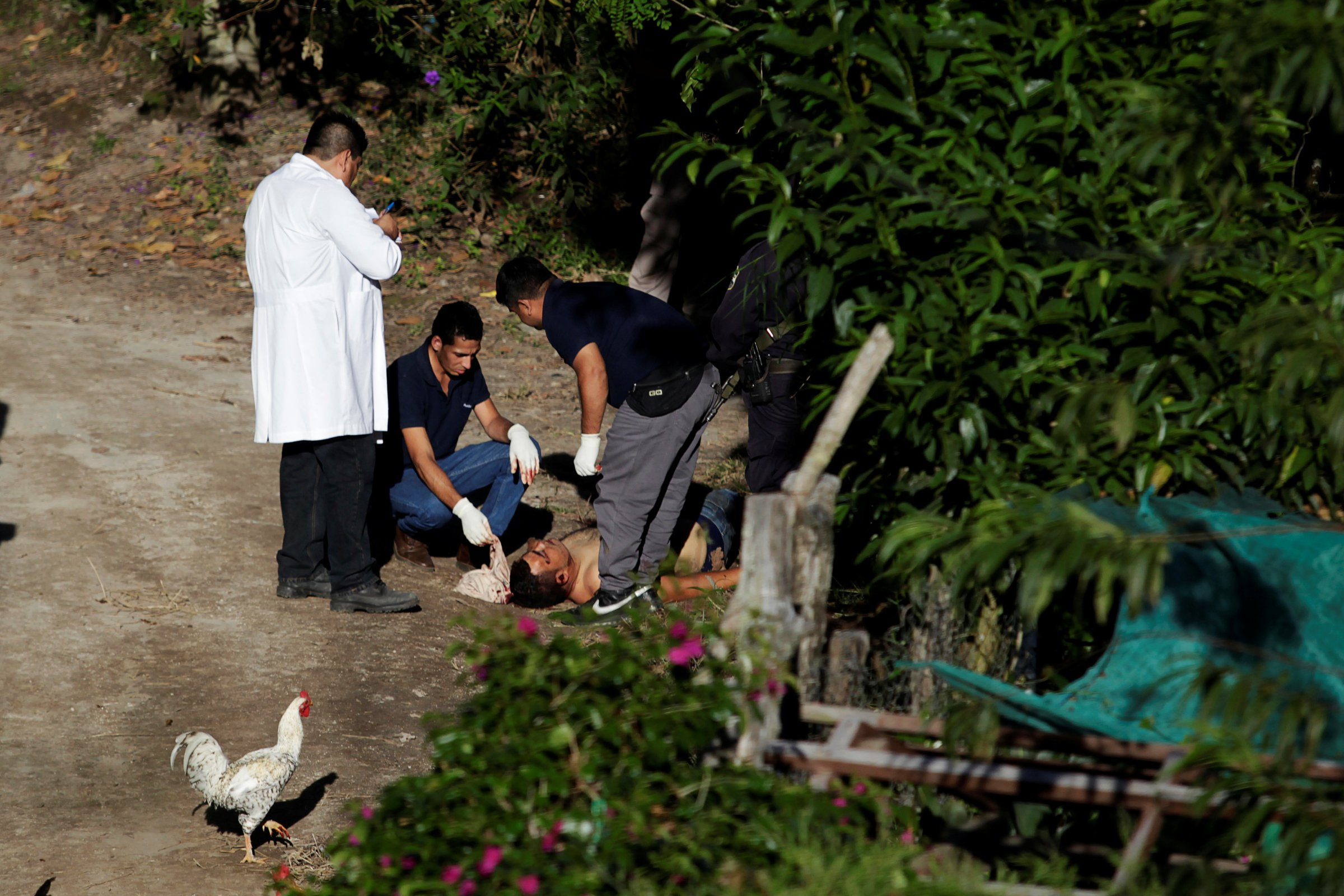San Salvador El Salvador crime scene murder killing victim police