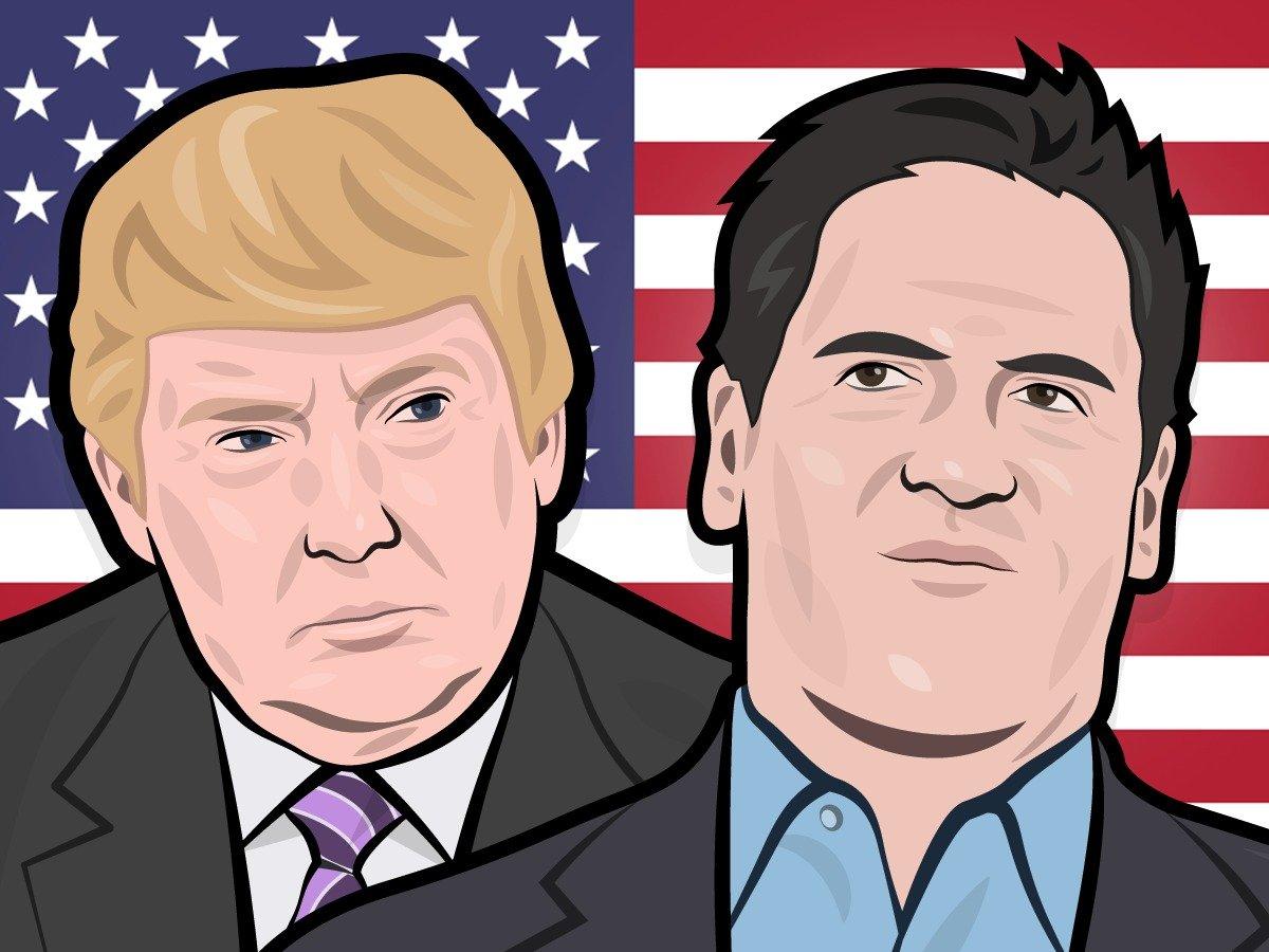 Donald Trump Mark Cuban America President Election 2016