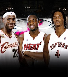 LeBron James, Dwyane Wade and Chris Bosh 1