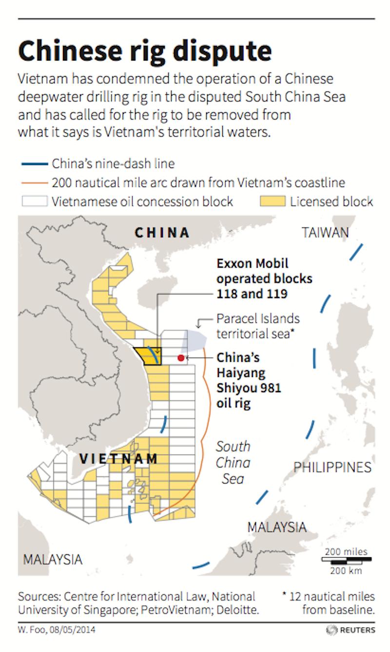 China Oil Rig Vietnam