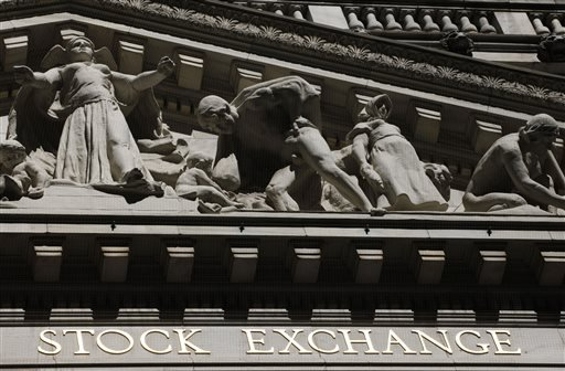 FILE - This July 15, 2013 file photo shows the New York Stock Exchange in New York. U.S. stocks rose in early trading on Tuesday, Sept. 15, 2015, led by energy companies as the price of oil turned higher. (AP Photo/Mark Lennihan, File)