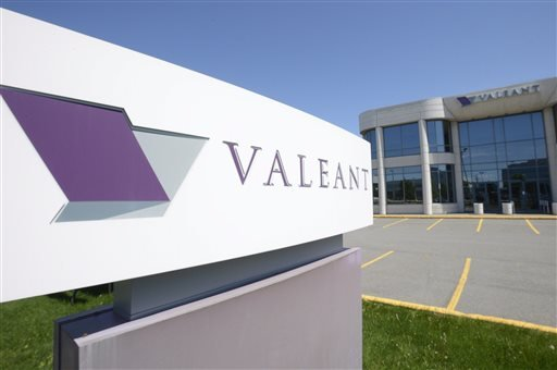 This May 27, 2013 photo shows the head office and logo of Valeant Pharmaceuticals in Montreal. Valeant Pharmaceuticals will pay about billion to buy Sprout Pharmaceuticals, the maker of the first prescription drug designed to boost sexual desire in women. The deal Thursday, Aug. 20, 2015, comes one day after regulators approved the pill. Valeant expects the Sprout pill, Addyi, to be available in the United States in the fourth quarter. (Ryan Remiorz/The Canadian Press via AP) MANDATORY CREDIT