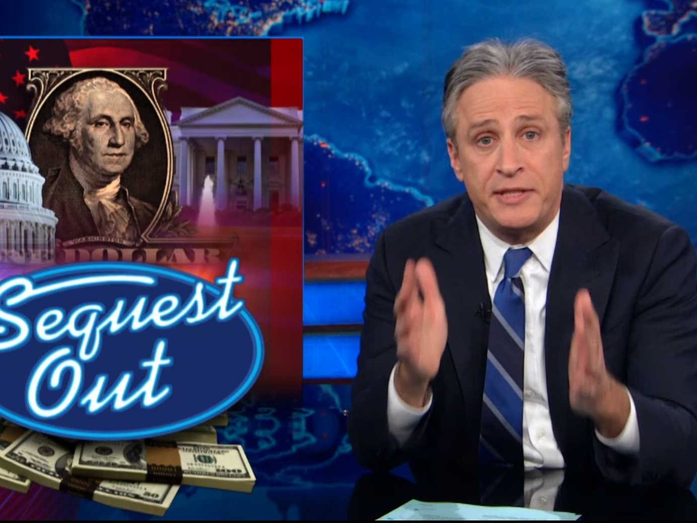 Jon Stewart Daily Show sequester