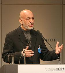 Afghan President Hamid Karzai (wikimedia)