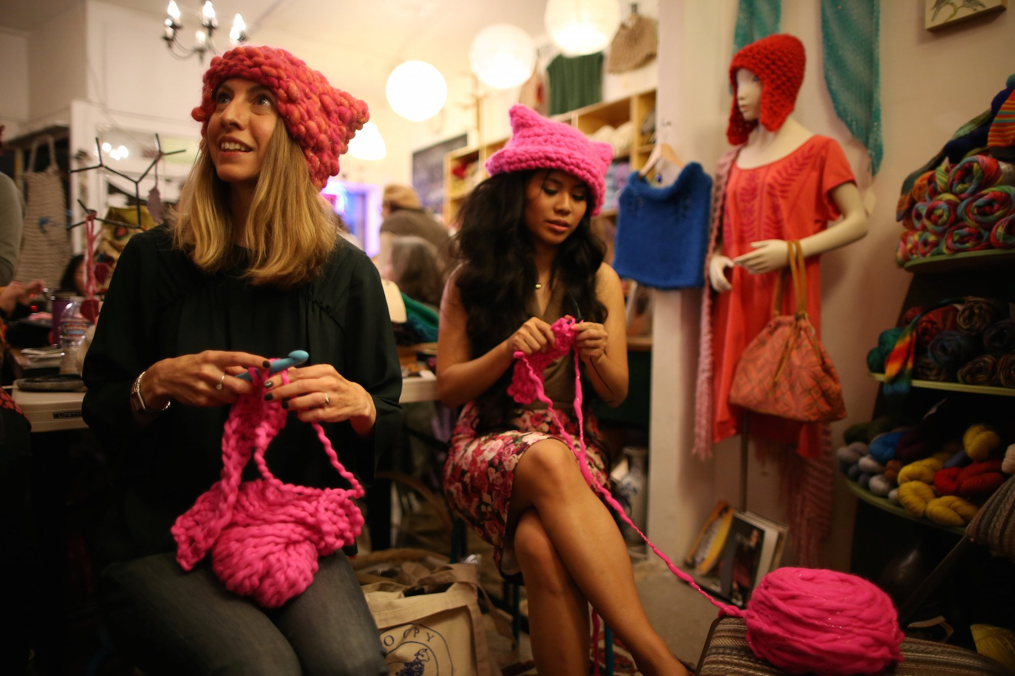 8cbcf64e7b939 Thousands of women wore pink  pussy hats  the day after Trump s ...