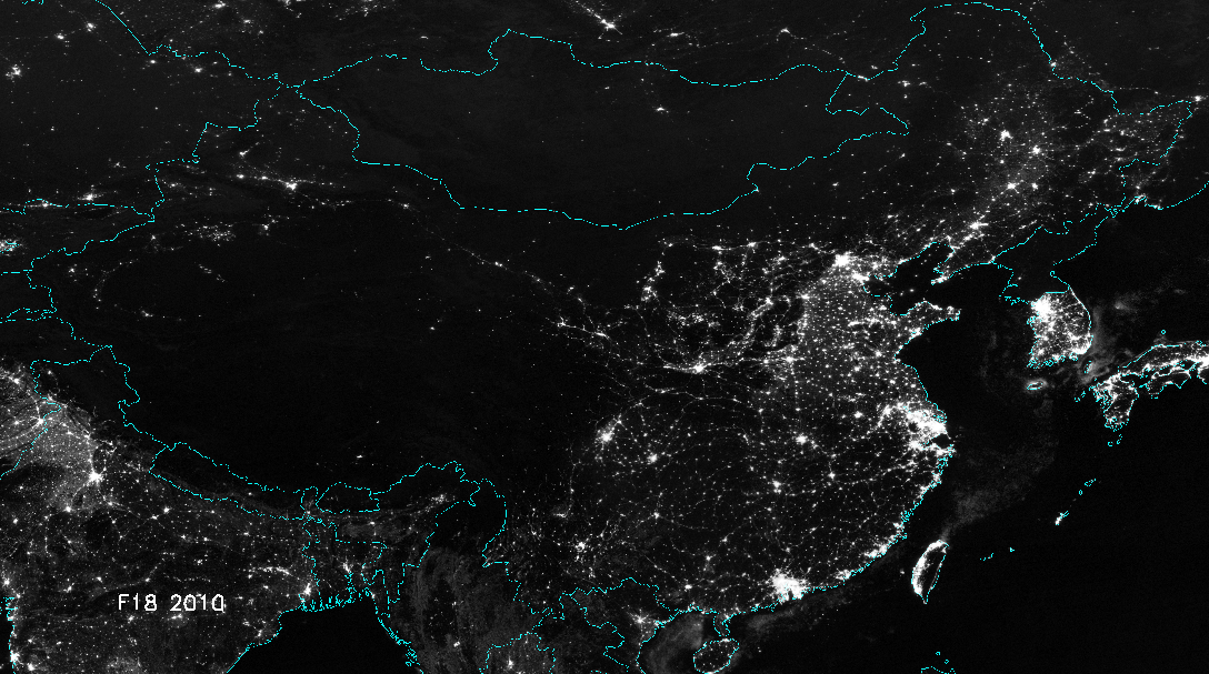 China From Space At Night 1992 Vs 2010 Www Bullfax Com