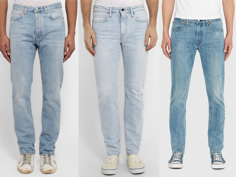 ab62c0ef121d8 From right to left  Acne Studios Van Slim-Fit Tapered Stonewashed Japanese Denim  Jeans ( 290)