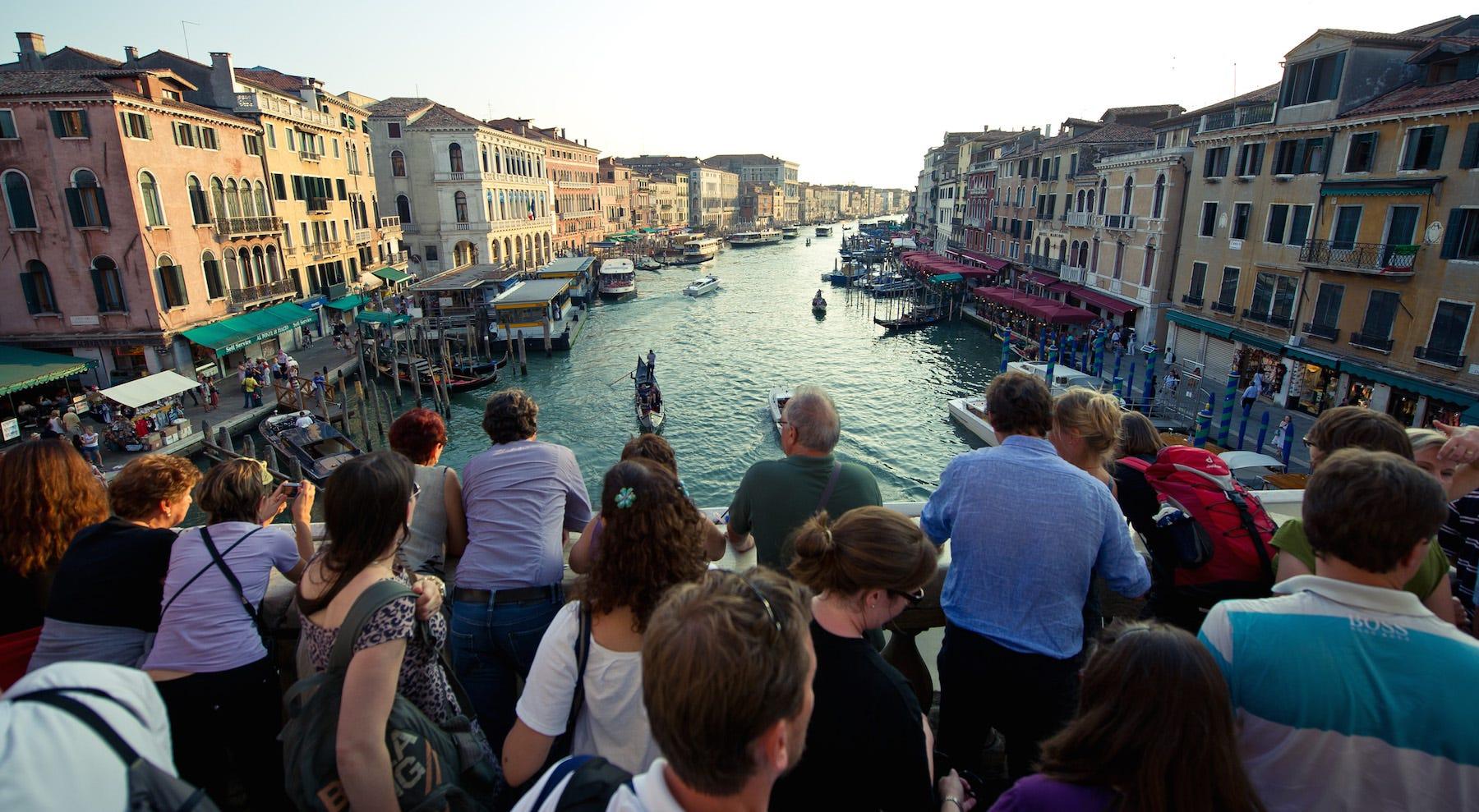tourists venice