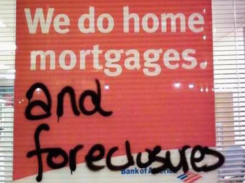foreclosures graffiti