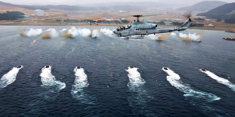 US Marines South Korea drill