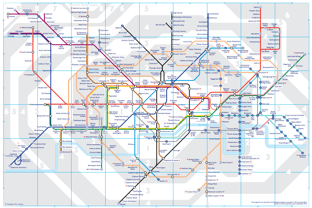 mapa metro londres 2013 The 150 Year Evolution Of The World's Most Famous Subway Map |   mapa metro londres 2013